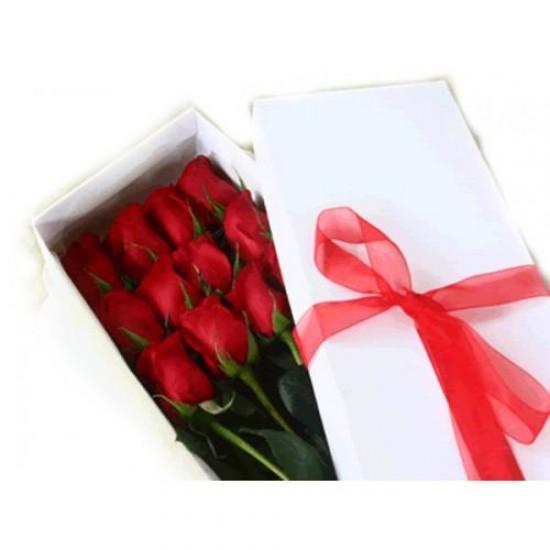 12 Rosas Surpresa na Caixa