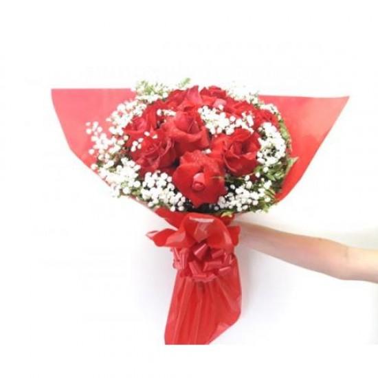 Buque 12 Rosas Amor Redondo
