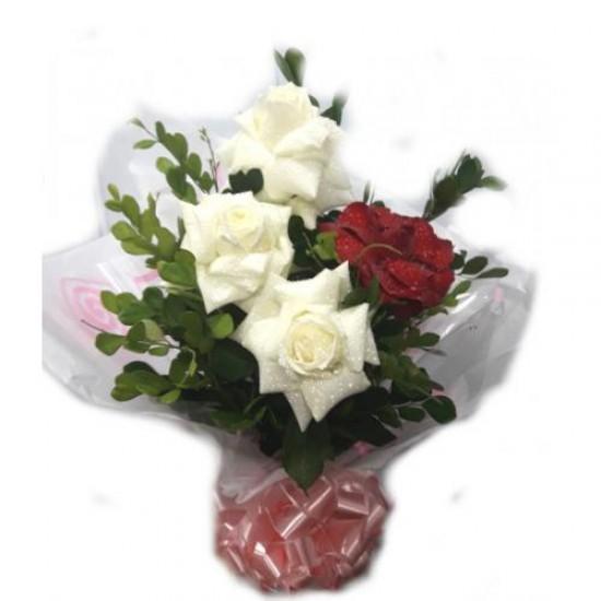 Arranjo Rosas Vermelha e Branca