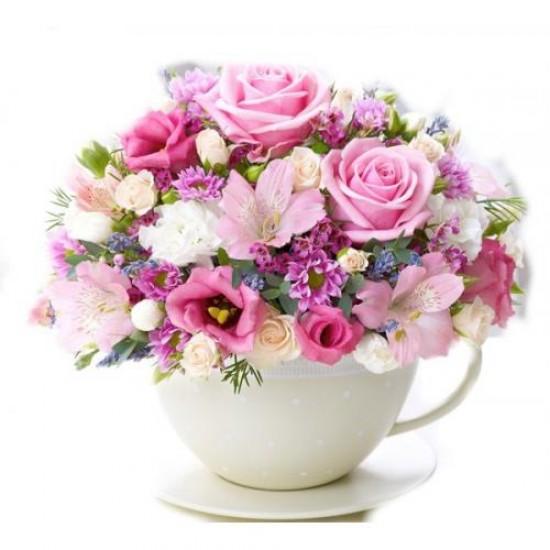 Surpresa de Flores Na Xicara